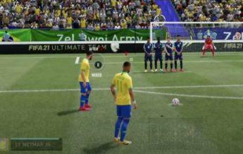 How to take free kicks in FIFA 21: tutorial